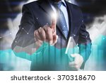 businessman pressing on the... | Shutterstock . vector #370318670