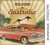 Welcome To Australia Retro...