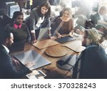 business team meeting project... | Shutterstock . vector #370328243