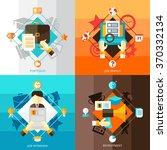 resume 2x2 flat design concept... | Shutterstock .eps vector #370332134
