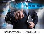 businessman pressing button on... | Shutterstock . vector #370332818