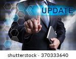 businessman pressing button on... | Shutterstock . vector #370333640
