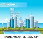 beautiful city landscape....   Shutterstock .eps vector #370337534