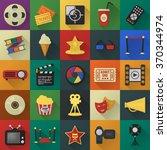 cinema icons set. | Shutterstock .eps vector #370344974
