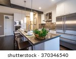 modern  bright  clean  kitchen... | Shutterstock . vector #370346540