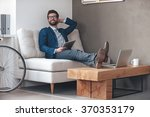 enjoying his working day.... | Shutterstock . vector #370353179