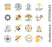 business support icons.... | Shutterstock .eps vector #370353623