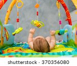 naked child playing lying on... | Shutterstock . vector #370356080