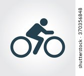 blue colored icon of cyclist on ... | Shutterstock .eps vector #370356848