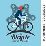 ride a bike  | Shutterstock .eps vector #370360316