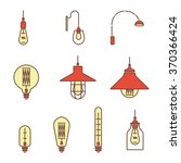 collection of vintage symbols... | Shutterstock .eps vector #370366424