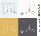 collection of vintage lamps ... | Shutterstock .eps vector #370366433