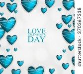 happy valentine's day lettering ... | Shutterstock .eps vector #370367318