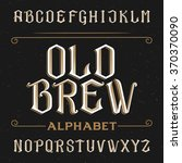 old alphabet font. type letters ... | Shutterstock .eps vector #370370090