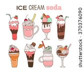 ice cream soda illustration.... | Shutterstock .eps vector #370376090
