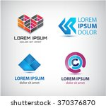 vector set of abstract shapes ... | Shutterstock .eps vector #370376870
