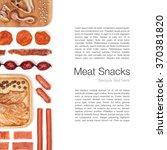 meat snacks on white background  | Shutterstock . vector #370381820