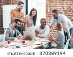 successful team. group of...   Shutterstock . vector #370389194