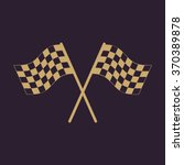 the checkered flag icon. finish ... | Shutterstock .eps vector #370389878