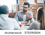 time to discuss our business... | Shutterstock . vector #370390004