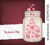 hearts in a glass jar for... | Shutterstock .eps vector #370390730