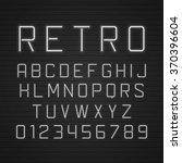 vector design retro signboard... | Shutterstock .eps vector #370396604