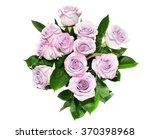 purple roses on the white... | Shutterstock . vector #370398968