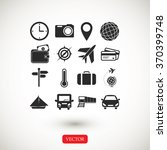 travel icons set | Shutterstock .eps vector #370399748