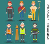 male profession miner  builder  ... | Shutterstock .eps vector #370402460