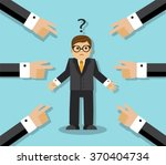 all the finger at an employee.... | Shutterstock .eps vector #370404734