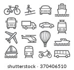 transport line icons | Shutterstock . vector #370406510
