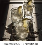 closeup  vintage vodka in a... | Shutterstock . vector #370408640