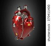 Diesel Punk Robot Techno Heart. ...