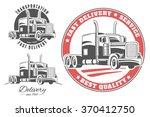 set of vector logos with semi...   Shutterstock .eps vector #370412750
