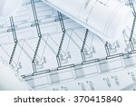 architectural blueprints | Shutterstock . vector #370415840