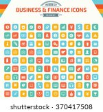 business and financial icon set ... | Shutterstock .eps vector #370417508