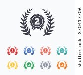 second place award sign icon.... | Shutterstock .eps vector #370417706