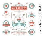 valentine's day labels and... | Shutterstock .eps vector #370418930