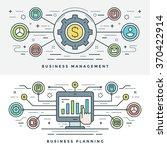 flat line business management... | Shutterstock .eps vector #370422914