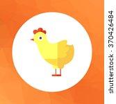 chicken icon | Shutterstock .eps vector #370426484
