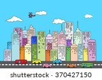illustration of city skyscraper ... | Shutterstock .eps vector #370427150