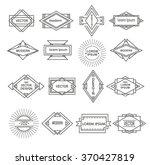 set of line geometric logotypes.... | Shutterstock .eps vector #370427819