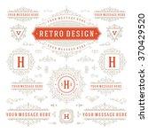vintage vector ornaments... | Shutterstock .eps vector #370429520