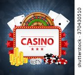 background on a casino theme. ... | Shutterstock .eps vector #370430510