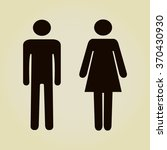 sign with toilet  men  women  | Shutterstock .eps vector #370430930