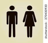 sign with toilet  men  women  | Shutterstock .eps vector #370430930