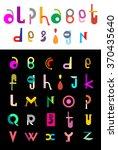 editable vector alphabet.... | Shutterstock .eps vector #370435640