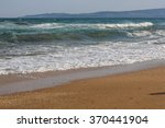 black sea coast with waves on... | Shutterstock . vector #370441904
