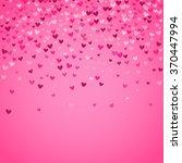 romantic pink heart background. ... | Shutterstock .eps vector #370447994