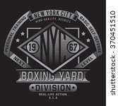boxing sport typography  t... | Shutterstock .eps vector #370451510